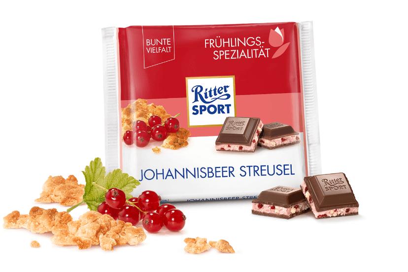 RS 100g Wiosna czekolada mleczna z nadzieniem jogurtowym z kruszonką i